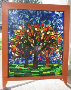 Autumns Glory Mosaic Window by ~reflectionsshattered on deviantART