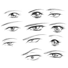 Eye Drawing Tutorials, Sketches Tutorial, Drawing Techniques, Manga Eyes, Anime Eyes, Anime Drawings Sketches, Anime Sketch, Drawing Base, Manga Drawing
