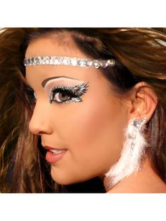 Headband / Halo Rhinestone Angel Costume Makeup Xotic Eyes- resolution!!!