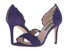 SJP by Sarah Jessica Parker Bobbie Purple Suede High Heels for a wedding.
