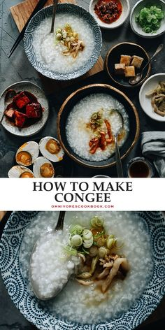Not only is plain congee the ultimate comfort food, it's also an important staple on the Chinese dinner table - just as popular as steamed rice. Check out the recipe below for how to make congee on stovetop or in an Instant Pot, with various toppings that spice it up! {Gluten-Free, Vegan}