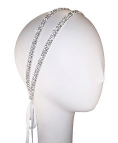 Coy Double Band Crystal Headband by KirstenKuehnDesigns on Etsy, $80.00