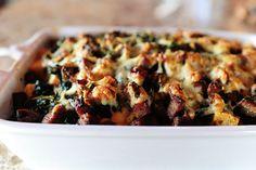 Sausage kale breakfast strata