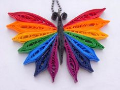 Handmade+Rainbow+Butterfly+Paper+Quilled+by+FiligreeDelights,+$20.00
