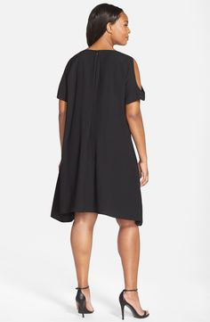 d7f46e6f1db Free shipping and returns on Sejour Cold Shoulder Swing Dress (Plus Size)  at Nordstrom