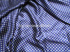 silk fabric polka dots print 100% silk crepe satin fabric