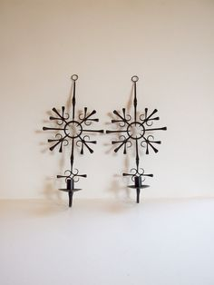 Pair of Swedish wall candleholders //  Horseshoe by tiendanordica, $39.00