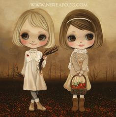 Blythe art by Nerea Pozo. Love their little faces.