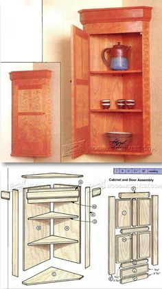 Carved Corner Cabinet Plans - Furniture Plans and Projects | WoodArchivist.com