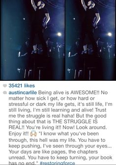 Austin Carlile | quotes he's the most amazing man ever ^_^
