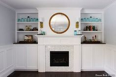 The 8 most savvy additions/renovations you can do to your house - HouseLogic - Built-in shelves and a gas fireplace
