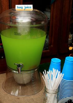 """a """"bug party"""" - green bug juice"""