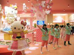 """Hello Kitty's Kawaii Paradise"" is a new Hello Kitty theme park in south Tokyo, on the Odaïba artificial island"