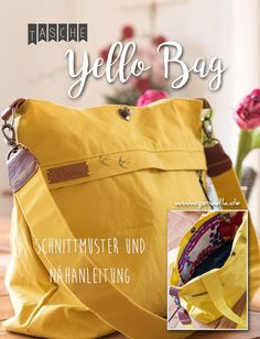 Ebook yello bag shoulder bag - yello bag – the shoulder bag for leisure and business. The yello bag is a bag with 2 straps and a - Handmade Bags, Sewing Clothes, Hobo Bag, Boyfriend Gifts, Bag Making, Purses And Bags, Pouch, Wallet, Shoulder Bag