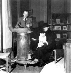 Paul Delvaux & René Magritte by Lee Miller, 1945