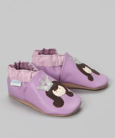 Take a look at this Robeez Soft Soles Lavender Princess Bootie by Stride Rite & Robeez on #zulily today!