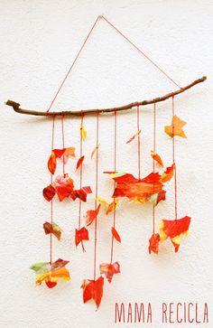 Autumn mobile - mama recicla