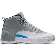 "Air Jordan 12 Retro ""University Blue"" ❤ liked on Polyvore featuring sneakers, jordan 12 and shoes"