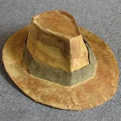 How to Make a Fedora (Indiana Jones'): 8 Steps (with Pictures) Chapeau Indiana Jones, Form Drawing, Jute Crafts, Paper Crafts, Diy Crafts, Diy Hat, Shoe Pattern, Crystal Skull, Arte Floral