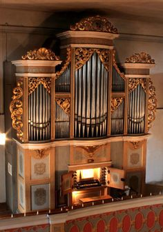 Gottfried Silbermann orgel der Kirche Großhartmannsdorf