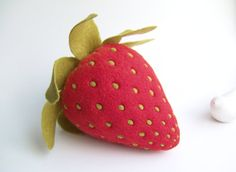 Strawberry  Felt Food by felttess on Etsy