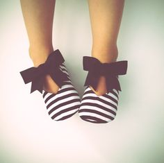Baby Girl Shoes Toddler Girl Shoes Soft Sole Shoes Black and White Stripes Flower Girl Shoes Wedding Shoes Black Shoes Infant Shoes- Belle by BitsyBlossom on Etsy https://www.etsy.com/listing/265129515/baby-girl-shoes-toddler-girl-shoes-soft