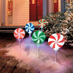 Peppermint Christmas Lights #$50-$100 #Christmas #Gifts-For_The-Home