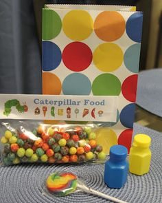 very hungry caterpillar birthday party goody bags