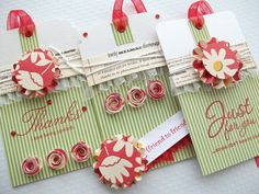 Pretty handmade tags.