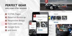 Perfect Gear is a template well suited for various businesses related to automotive industry: auto repair, auto services, auto maintenance, car wash, auto parts store, auto paint shop, etc.  We have...
