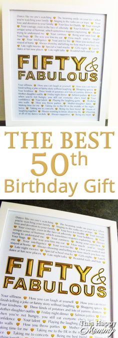 Fifty and Fabulous -- The perfect homemade 50th birthday idea. | 50th birthday ideas for women | 50th birthday ideas for men | birthday party gift for adults | 50th birthday ideas | the best 50th birthday gift #50birthday #birthdaygift #50thbirthdayideasgifts #birthdayideas| thishappymommy.com