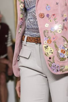 jacket , pink , white pants , 2014 collection , emilio pucci