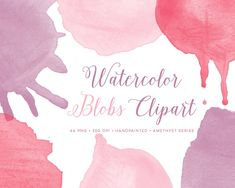 Watercolour blobs graphics hi-res by By Lef on @creativemarket