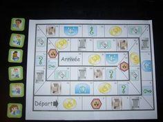 """Après avoir travaillé sur le tri sélectif et afin de laisser une trace ludique, nous avons décidé de fabriquer un jeu de l'oie géant sur le tri sélectif. Voici le jeu de l'oie ( fait à partir des plateau de jeu proposé par """"La maternelle de moustache"""")... Alternative Education, Back Up, French Lessons, Edd, Earth Day, Design Thinking, Centre, Afin, Animation"""