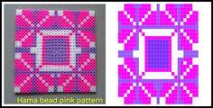 Hama beads pink pattern
