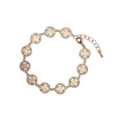 Bracelet with white crystals Miranda Rose water Diamond bracelet by Lily and Rose.   Information      Bracelet with white crystals of various sizes.   Length: 17 cm with 3 cm extension  Width: 10 mm   Crystals:  1.4 mm Crystal (Oktant, Austria)  5.3 mm Rose water (Swarovski, Austria)