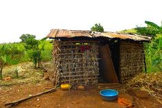 This is what most of the older African houses used to look like. They were not as sturdy as they are today.
