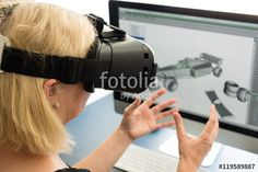 Female engineer with VR glasses - Buy this stock photo and explore similar images at Adobe Stock Engineering Programs, Photorealism, Graphic Design, Map, Technology, Stock Photos, Canning, Education, Female