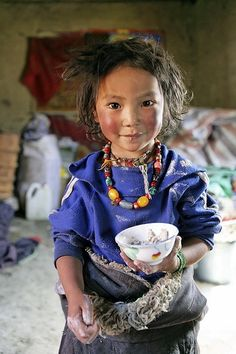 Tibetan nomad girl. Tsatsa, eastern Tibet, 2005. photo by Matthieu Ricard