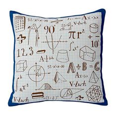 Kids Throw Pillows: Kids Math Throw Pillows in Kids Throw Pillows. WHY DOESN'T THIS COME IN PINK?!?!