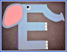 A Happily Ever Crafter: Letter E Craft Letter F Craft, Preschool Letter Crafts, Alphabet Letter Crafts, Abc Crafts, Preschool Projects, Toddler Crafts, Preschool Activities, Alphabet Book, Preschool Printables