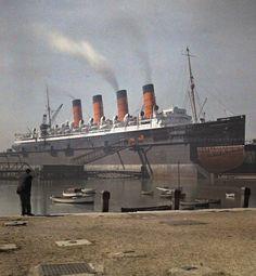 Mauritania Rms Mauretania, World War One, Battleship, Titanic, Vintage Travel, Liverpool, Sailing, Cruise, Places To Visit