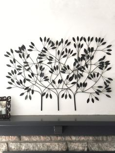 Metal Tree Wall Art Metal Wall Art Large Wall by CamillaCotton