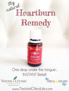 DiGize for Painful Heartburn! My Natural Heartburn remedy!! www.thewelloiledlife.com