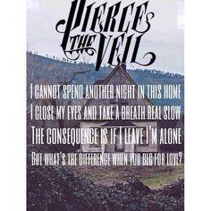 Ptv Lyrics, Pierce The Veil Lyrics, Music Lyrics, Pierce The Veil Quotes, Band Quotes, Lyric Quotes, Beg For Love, My Love, Song One