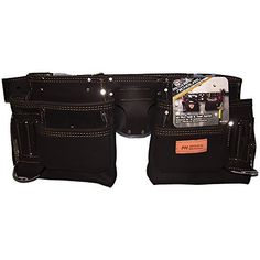 """McGuire-Nicholas 10-Pocket Contractor Tool Belt Apron 28""""-50"""" Oil Tanned Leather"""
