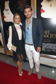 The Olivia Palermo Lookbook : Olivia Palermo and Johannes Huebl at New York event.