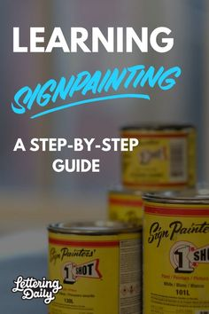 How to become a sign painter? Today we are answering this question with the help of the talented sign painter Gaston! This sign painting tutorial will teach you all the sign painting basics! Learn and improve your sign painting lettering and techniques. Calligraphy and hand lettering for beginners. #lettering #handlettering #calligraphy #typography #signpainting