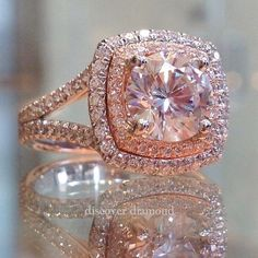 Engagement Ring Rose Gold, Wedding Engagement, Wedding Bands, Oval Engagement, Morganite Engagement, Rose Gold Jewelry, Fine Jewelry, Bijoux Or Rose, Diamond Rings
