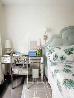 See more images from a sophisticated bedroom makeover on domino.com